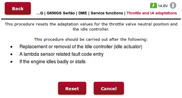 BMSE13 Throttle and Idle Actuator adaptations using the GS-911wifi web interface (step 1)