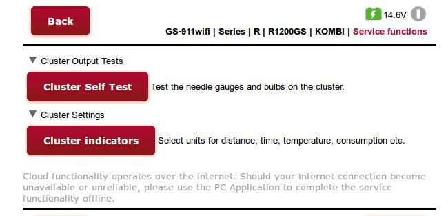 KOMBI cluster controller cloud service functions
